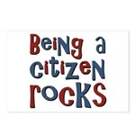 Being a USA Citizen Rocks Postcards (Package of 8)