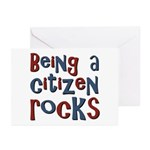 Being a USA Citizen Rocks Greeting Cards (Pk of 10