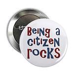 """Being a USA Citizen Rocks 2.25"""" Button (100 pack)"""