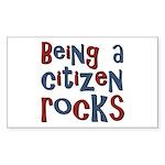Being a USA Citizen Rocks Rectangle Sticker