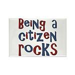 Being a USA Citizen Rocks Rectangle Magnet (10 pac