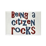Being a USA Citizen Rocks Rectangle Magnet (100 pa