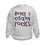 Being a USA Citizen Rocks Kids Sweatshirt