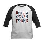 Being a USA Citizen Rocks Kids Baseball Jersey