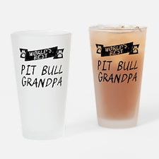 Worlds Best Pit Bull Grandpa Drinking Glass