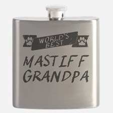 Worlds Best Mastiff Grandpa Flask