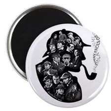 Many faces of Sherlock Holmes magnet.