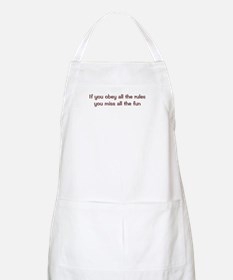 Obey the Rules BBQ Apron