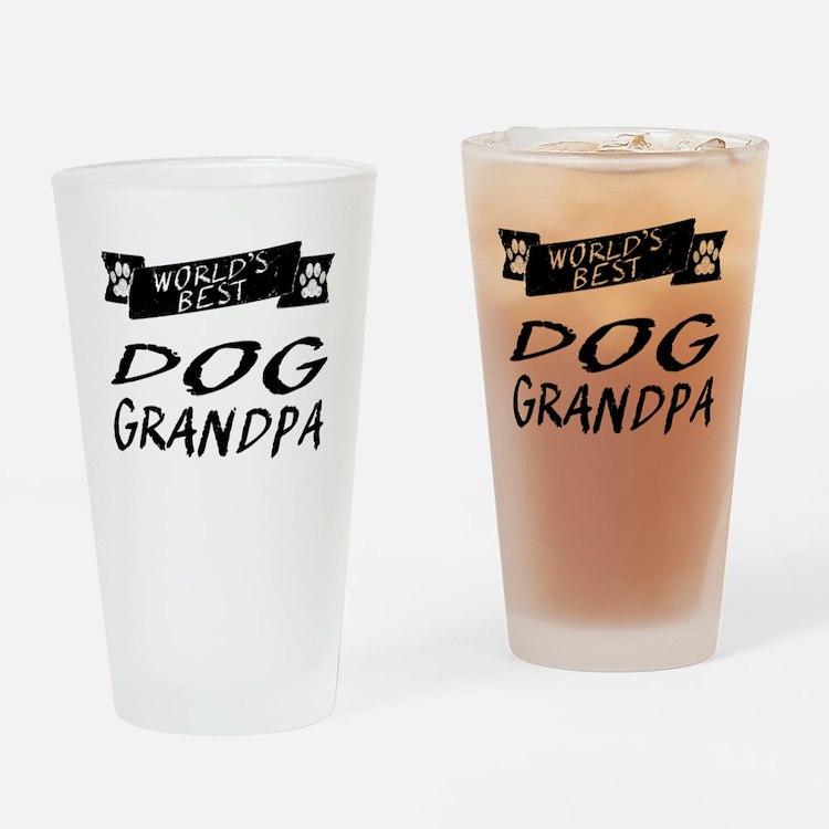 Worlds Best Dog Grandpa Drinking Glass