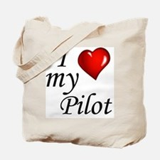 I Love My Pilot Tote Bag