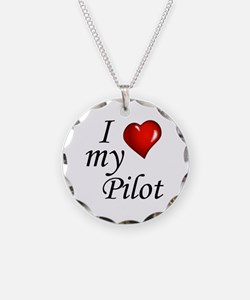I Love My Pilot Necklace