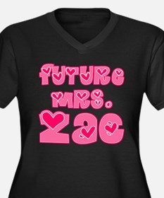 Future Mrs. Zac Women's Plus Size V-Neck Dark T-Sh