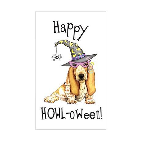 Halloween Basset Rectangle Sticker