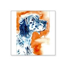 "Unique Setter art Square Sticker 3"" x 3"""