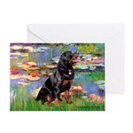 Lilies2/Rottweiler Greeting Card