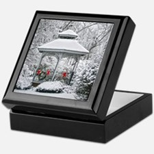 Gazebo in the Snow Keepsake Box