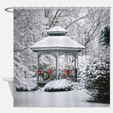 Gazebo in the Snow Shower Curtain