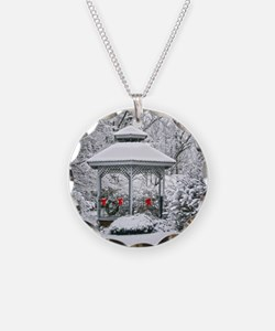 Gazebo in the Snow Necklace