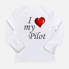 I Love My Pilot Long Sleeve T-Shirt