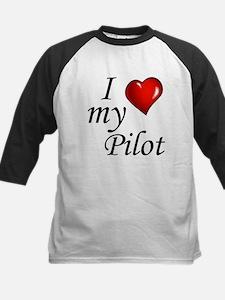 I Love My Pilot Baseball Jersey