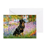 Garden / Rottweiler Greeting Card