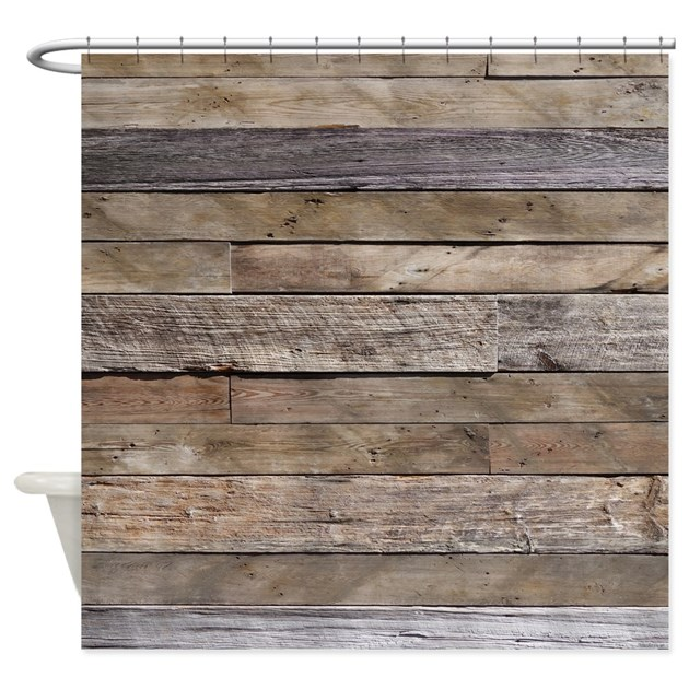 Rustic Weathered Barn Wood Shower Curtain By Rebeccakorpita