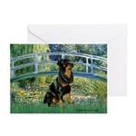 Bridge / Rottie Greeting Cards (Pk of 20)