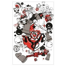 Roses R Red Collage  Poster