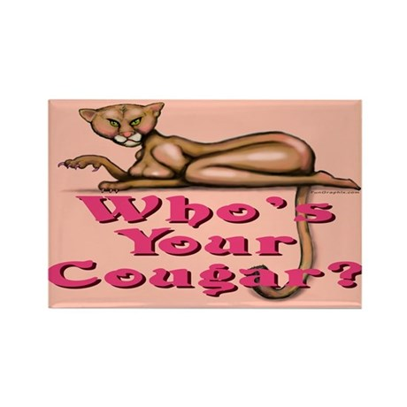 WhosYourCougar11x17 Magnets
