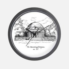 UVA Rotunda Artwork Wall Clock