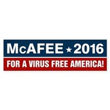 McAfee 2016 For a Virus Free Amer Bumper Sticker