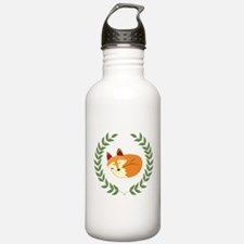 Sleeping Fox with Laurel Wreath Water Bottle