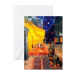 Cafe & Rottweiler Greeting Cards (Pk of 20)