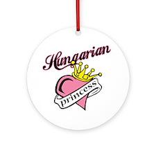 Hungarian Princess Ornament (Round)