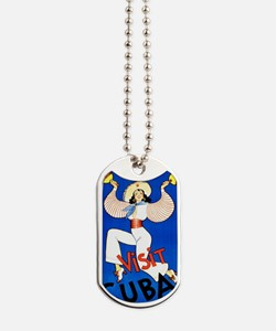 Vintage Travel Poster, Cuba Dog Tags