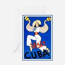 Vintage Travel Poster, Cuba Greeting Card