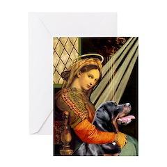 Madonna/Rottweiler Greeting Card