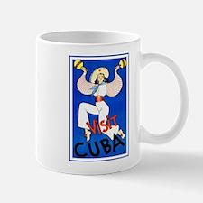 Vintage Travel Poster, Cuba Mugs