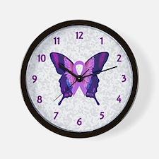 Survivor Butterfly Wall Clock