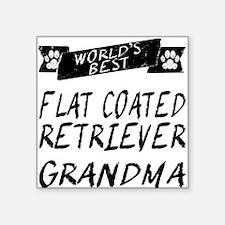 Worlds Best Flat-Coated Retriever Grandma Sticker