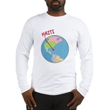Haiti Map Long Sleeve T-Shirt