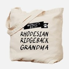 Worlds Best Rhodesian Ridgeback Grandma Tote Bag