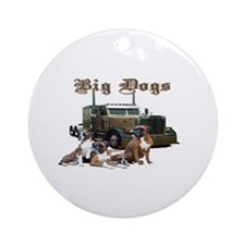 Big Dogs Ornament (Round)