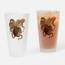 Vintage Octopus Drinking Glass