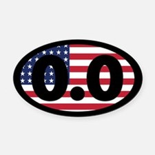 0.0 American Flag Oval Car Magnet