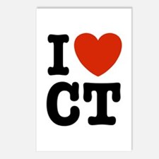 I Love CT Postcards (Package of 8)