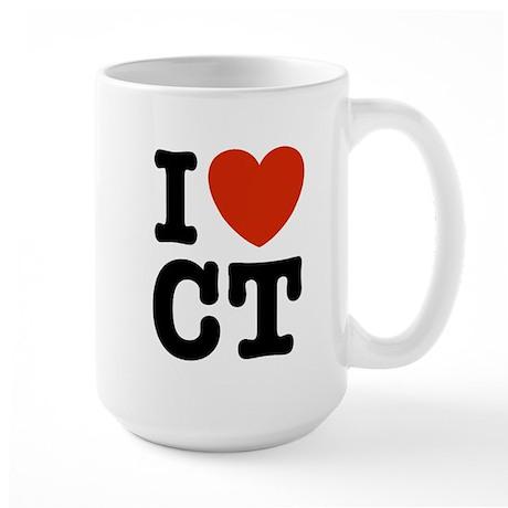 I Love CT Large Mug