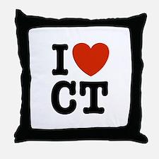 I Love CT Throw Pillow