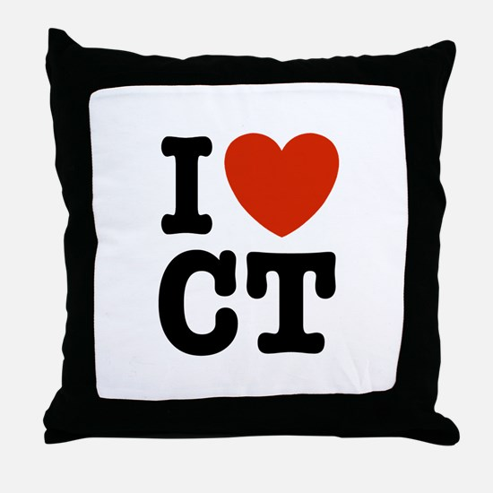I Love CT Throw Pillow