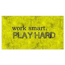 WORK SMART PLAY HARD BOX TWO Framed Print